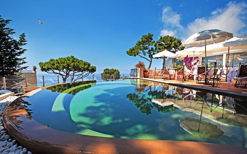 Casa Morgano Capri Hotel Vista Para O Mar Em Capri
